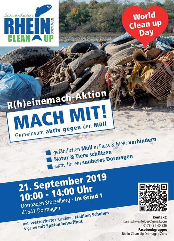 Rhein Clean Up Zum World Cleanup Day