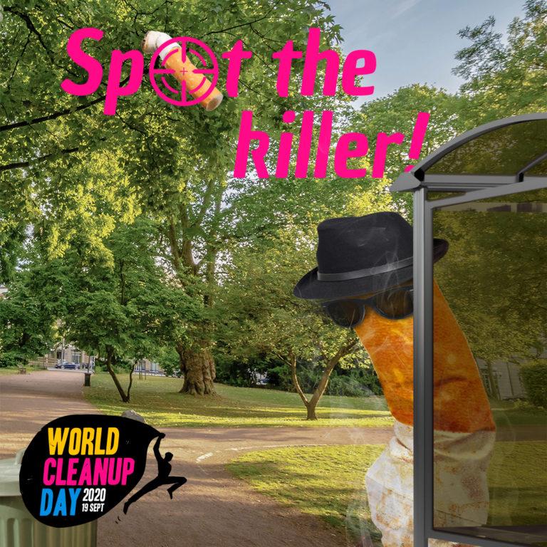 World Cleanup Day - Zigarettenstummel Kampagne