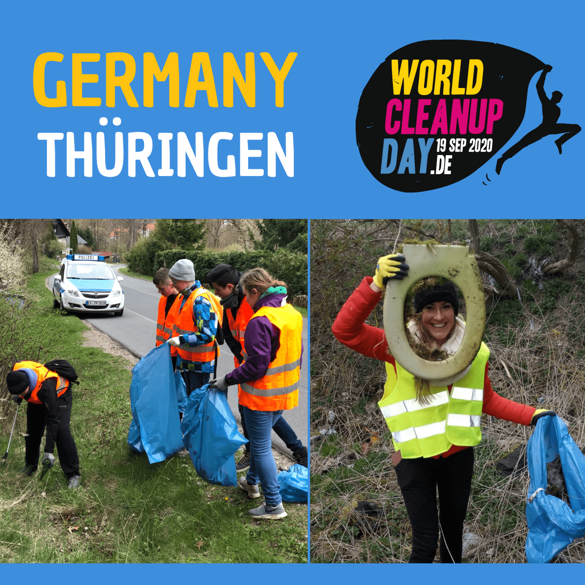 World Cleanup Day in Erfurt - OT Roter Berg (Thüringen)