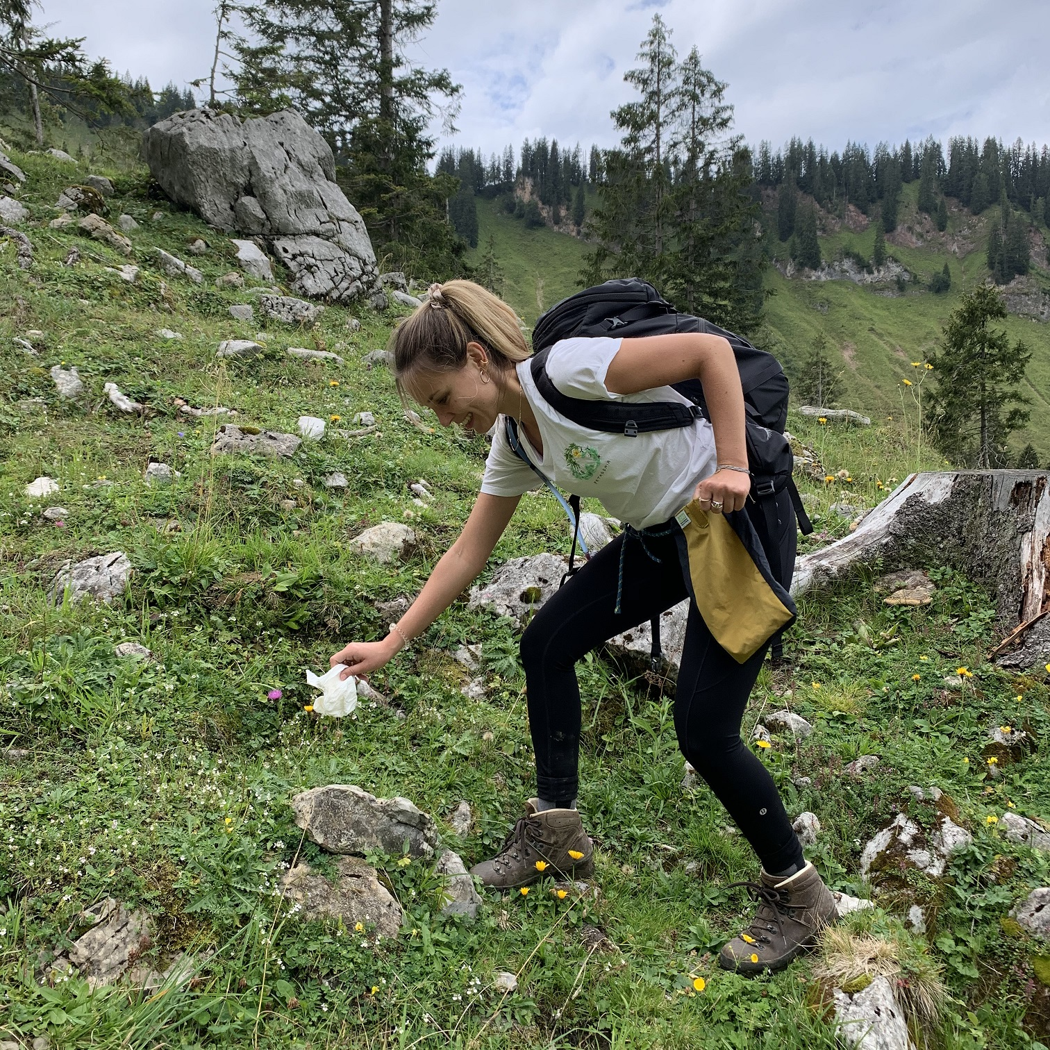 #hikeuppickup Müllsammelaktion im Mangfallgebirge/Hirschberg (Bayern)