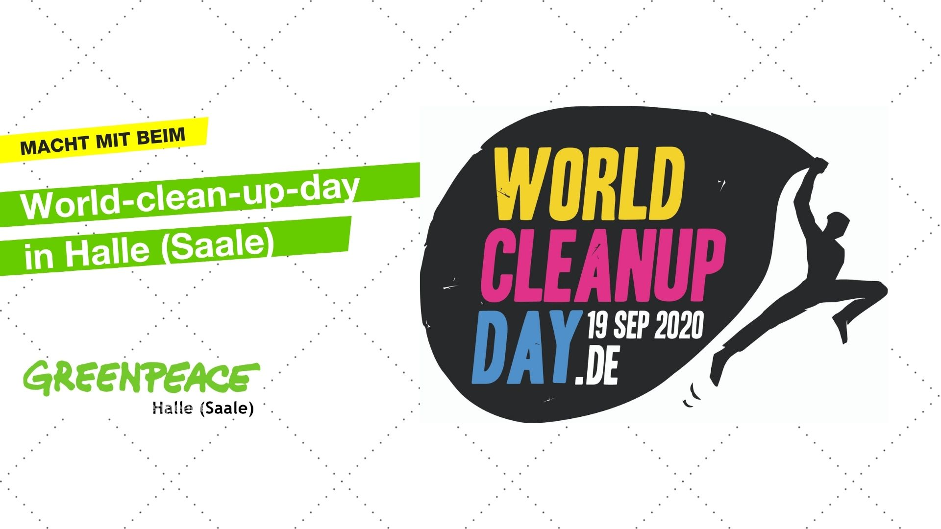 World Clean-up Day in Halle/Saale (Sachsen-Anhalt)