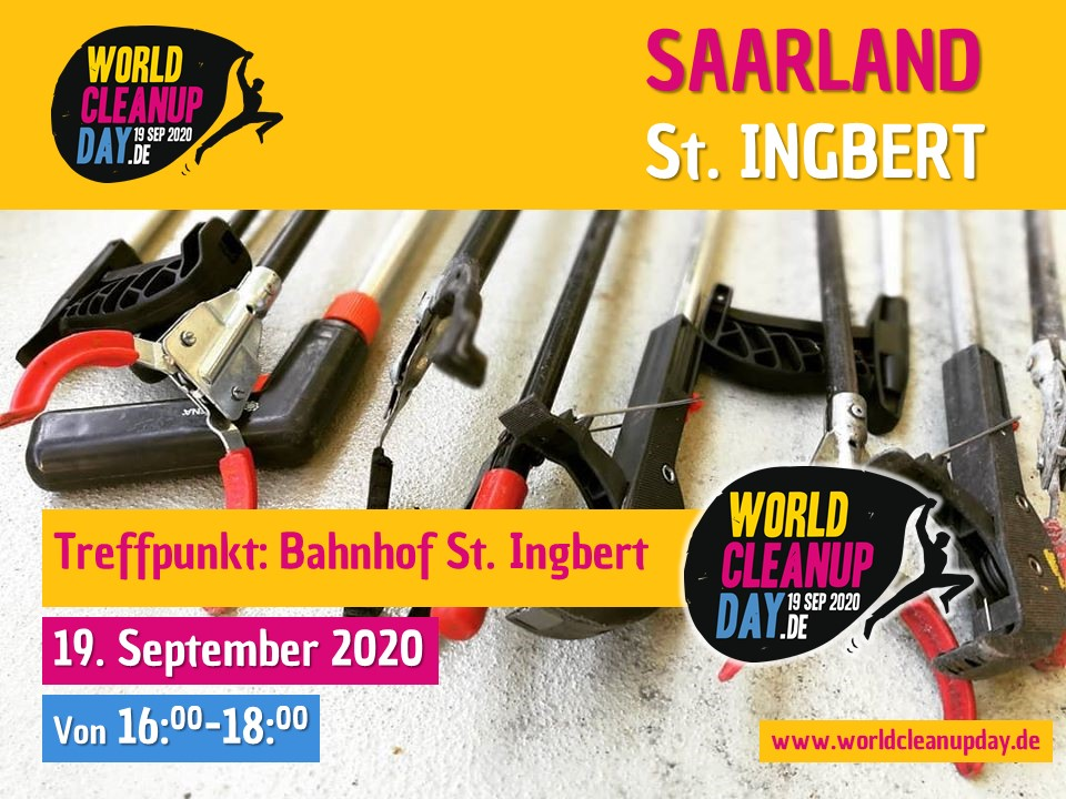 World Cleanup Day in Sankt Ingbert (Saarland)