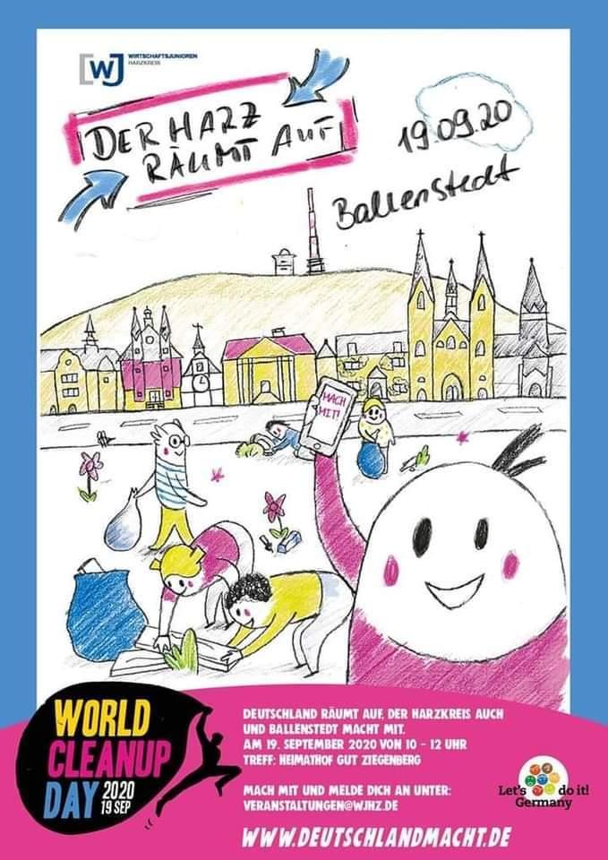 Ballenstedt räumt auf - beim World Cleanup Day (Sachsen-Anhalt)