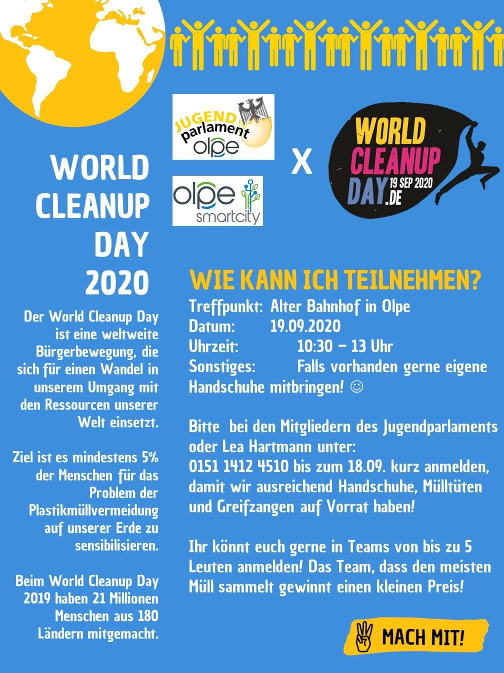 World Cleanup Day - Olpe ist dabei! (Nordrhein-Westfalen)