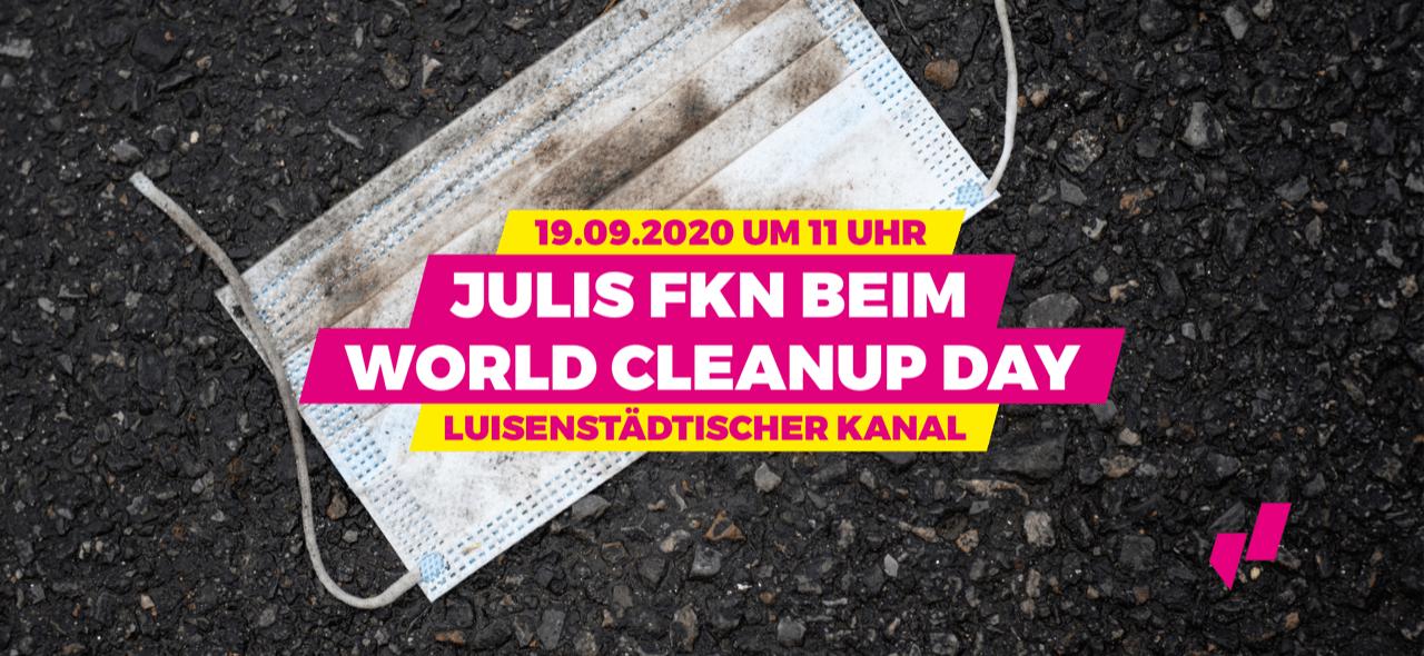 JuLis FKN/Friedrichshain-Kreuzberg beim Cleanup (Berlin)