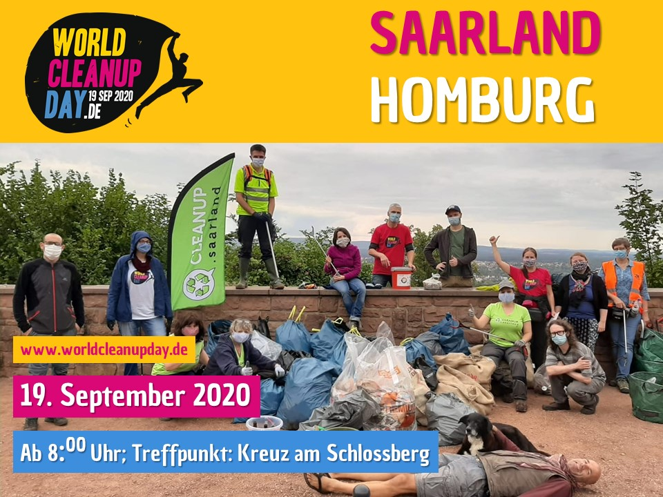 World Cleanup Day in Homburg auf dem Schlossberg (Saarland)