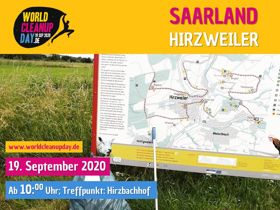 World Cleanup Day in Illingen-Hirzweiler (Saarland)